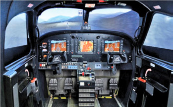 Cockpit View of Flight Training Device